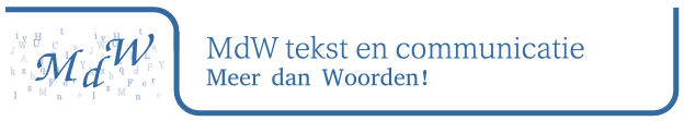 MdW tekst en communicatie